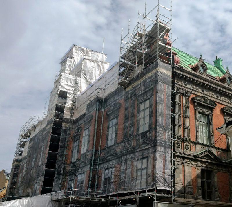 Rådhusets fasadsten är gjord av Höganäs