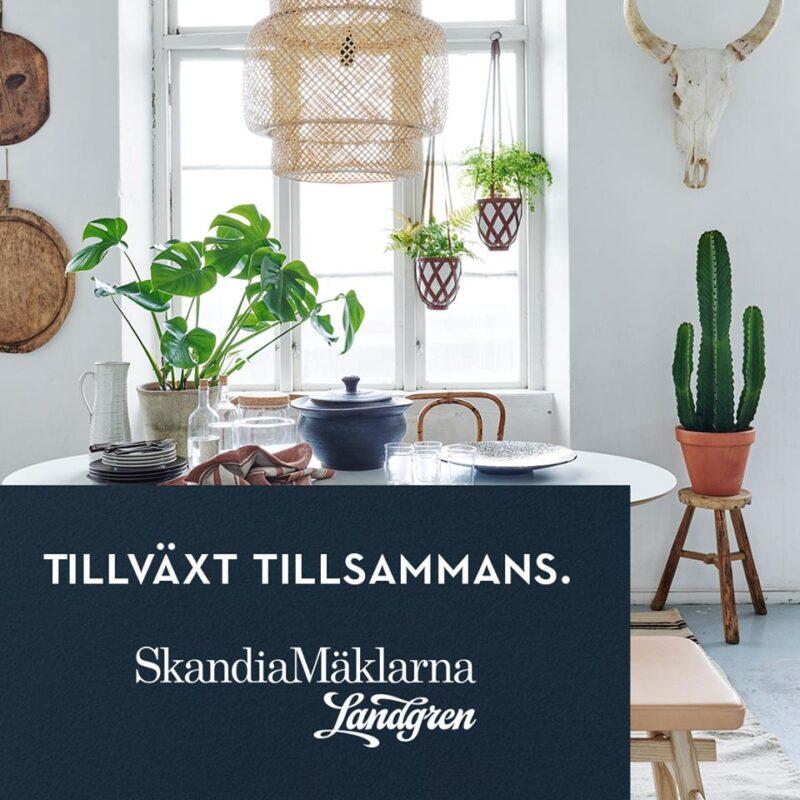 Landgren växer genom samgående med SkandiaMäklarna